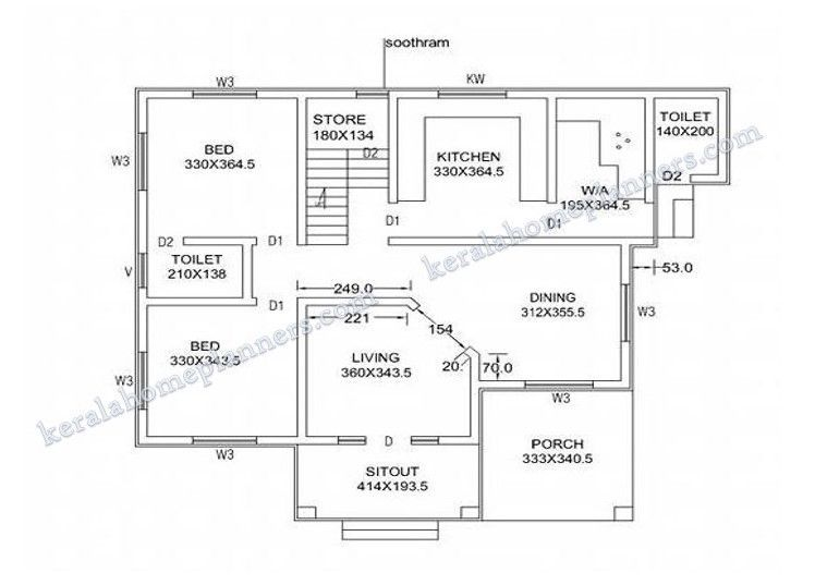 The Best 3 Bedroom House Plans In Kerala Two Floor And View Kerala House Design Indian House Plans 4 Bedroom House Plans
