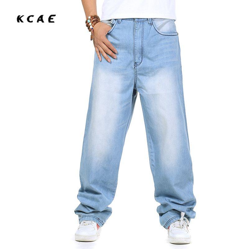 >> Click to Buy << Men's Baggy Jeans Hip Hop Designer Skateboard Pants loose Style Plus Size 30-46 HipHop Rap Jeans Boy #Affiliate