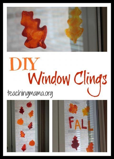 DIY Window Clings Window, Craft and Crafty - halloween window clings