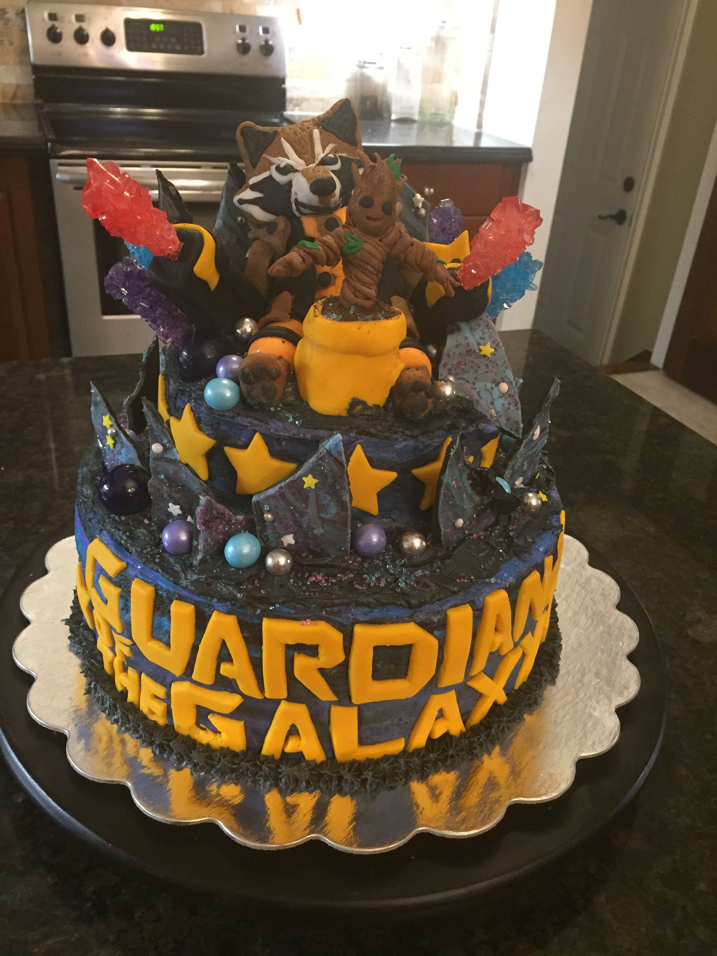 Guardians of the Galaxy cake for my Nephews 8th Birthday   Possible ...