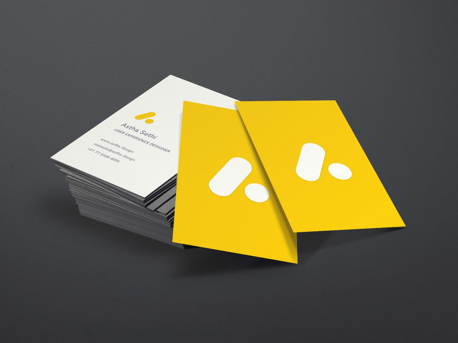 Business Card Yellow Business Card Business Cards Creative