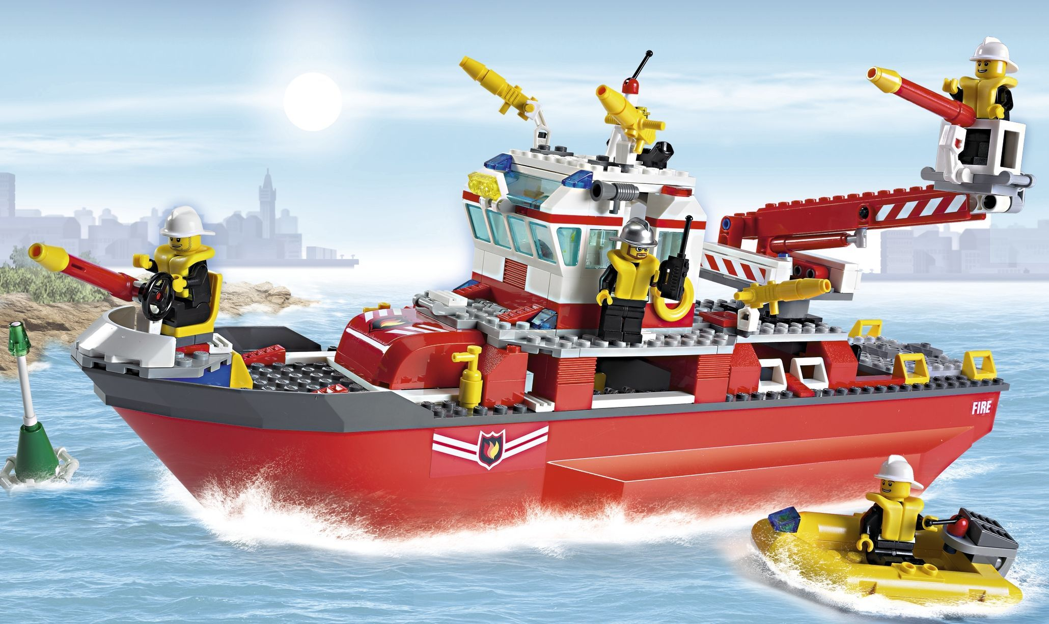 Lego Boats Lego City 7207 Fire Boat Red Lego City 7207 Fire Boat