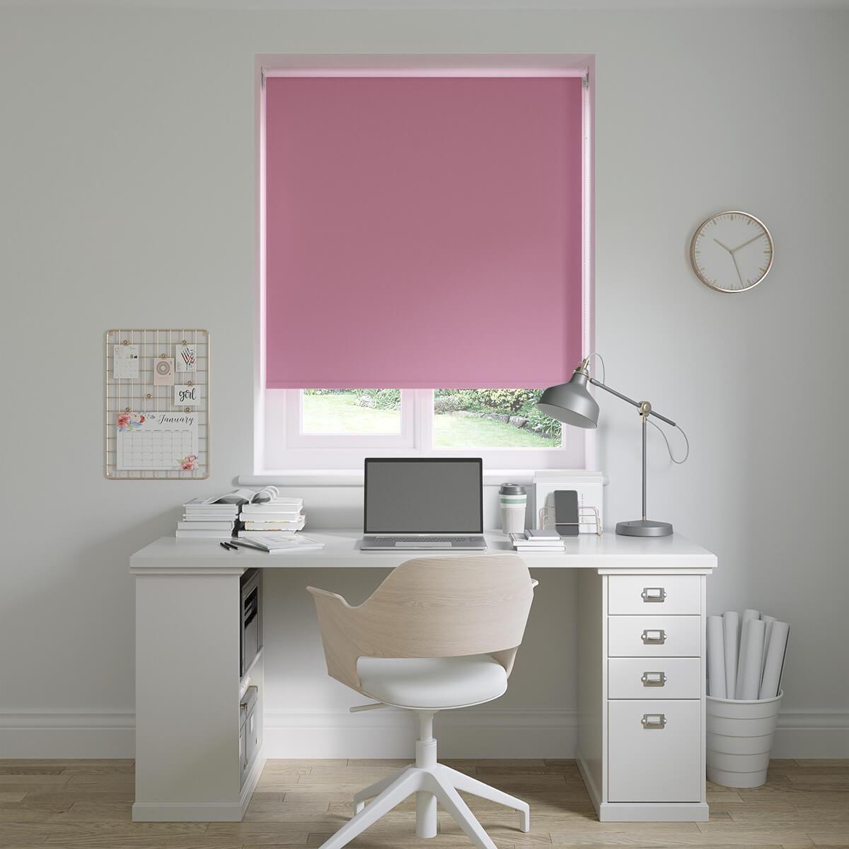 Photo of Lisbon Kitty Pink Roller Blinds – 0 / 0 / Sample