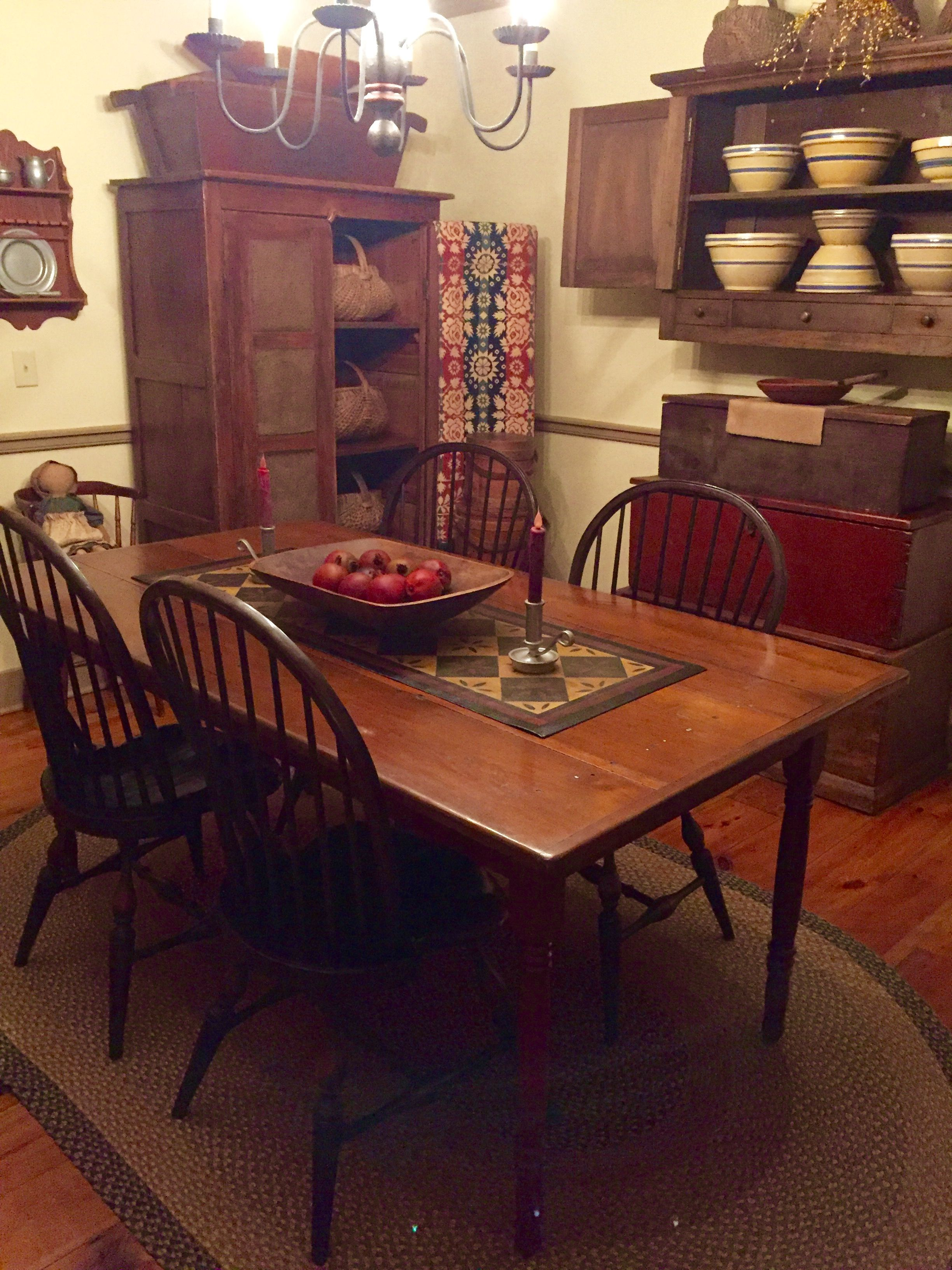 Primitive Dining Rooms Homes Kitchen Furniture Country Decorations Prim Decor