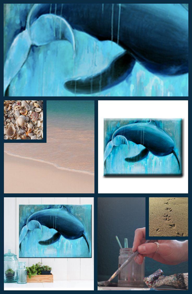 Beach house decor when beach comes to you wildlife art elephant