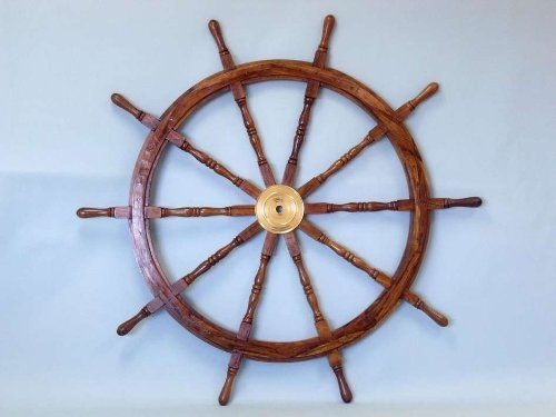Wooden Ship Wheel 60 Wooden Ship Wheels Nautical Decor Home Decoration Executive Promotional Gift By Handcrafted Mod Brass Decor Wheel Decor Wooden Ship