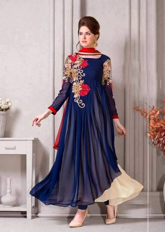 Latest Trendy Stani Party Wear Dresses 2017 18 Pk Vogue