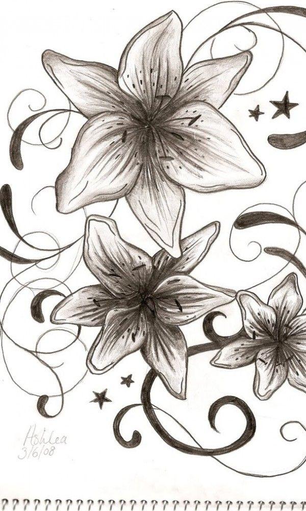 cbecfa1cc Tattoo Idea!   Tattoo Ideas Central   Tat & letters   Lily flower ...