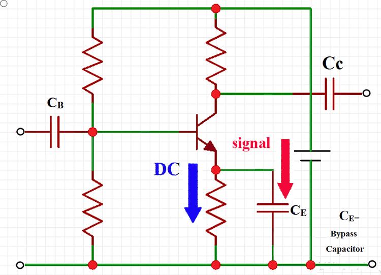 Emitter Bypass Capacitor Work Application Capacitor Electronics Circuit