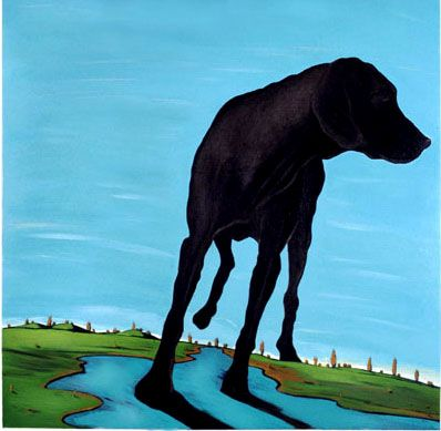 Marjorie Weiss Black Dogs At Chestertown Dog Art Art Framed