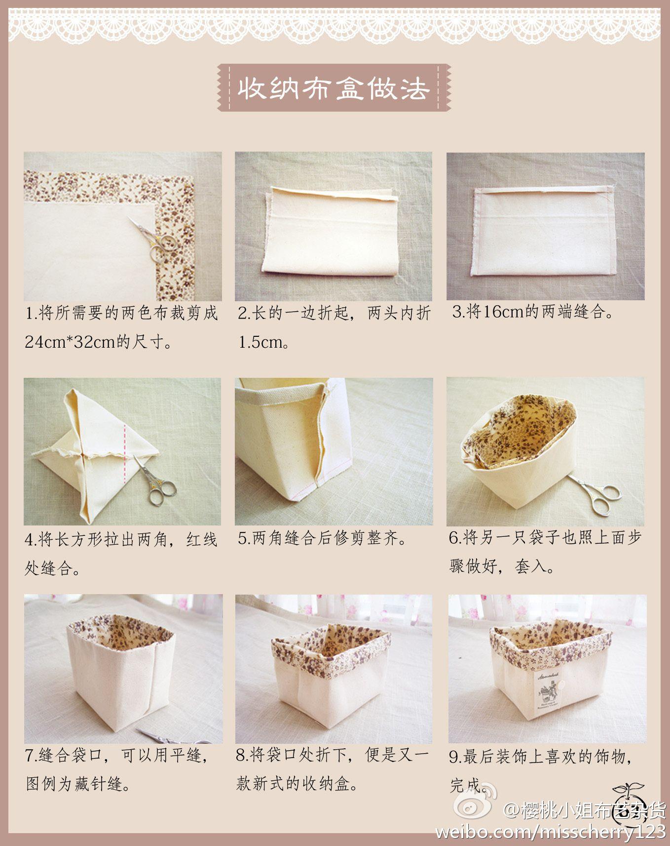 Cute Hand Made fabric Bins