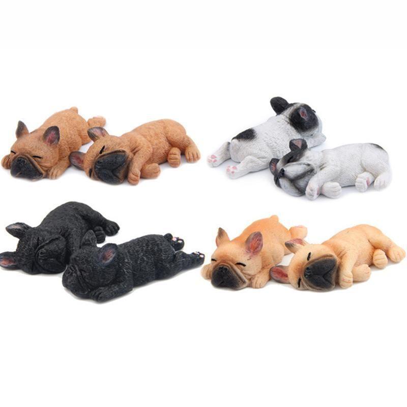 Refrigerator Magnetic Stickers Sleeping Pet Animals French Bulldog Home Decor