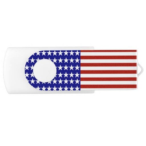 #RedWhiteandBlue Stars and Stripes Background Swivel USB 2.0 Flash Drive