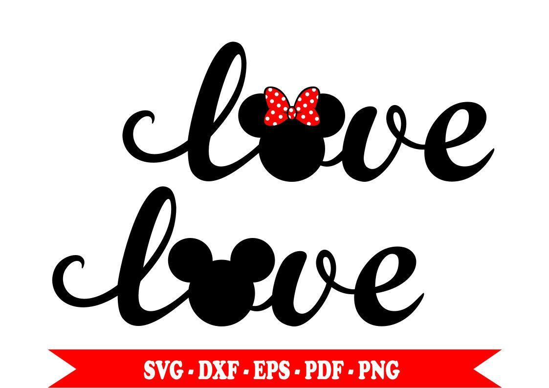Download Mickey Minnie mouse svg testa amore testo, clip art ...