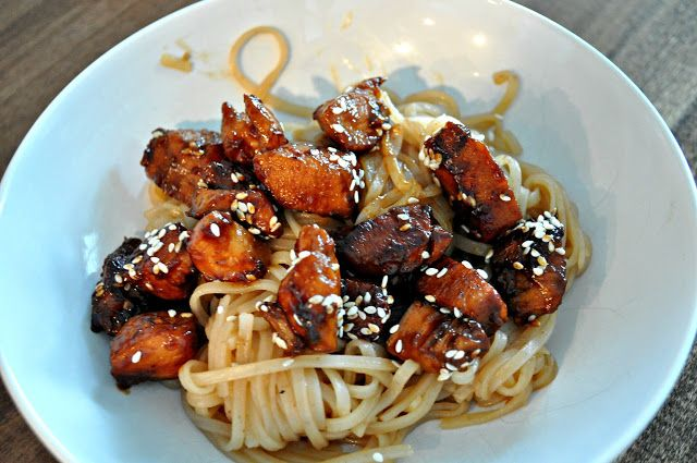 Barefoot Stamp: Teriyaki Chicken and Noodle Bowl from damndelicious.net