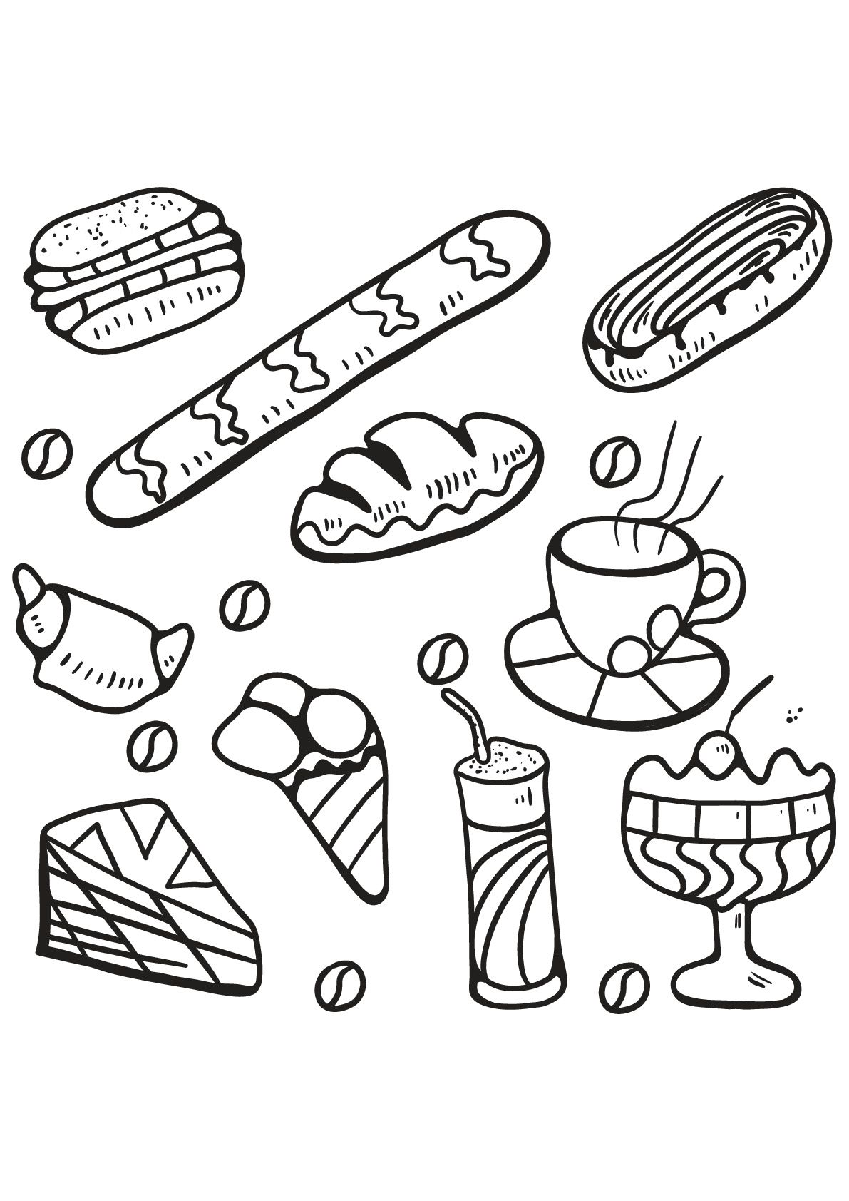 22 Awesome Image Of Food Coloring Pages Davemelillo Com Food Coloring Pages Free Kids Coloring Pages Coloring Pages Inspirational