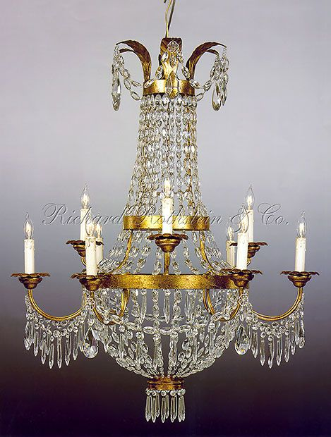 Empire chandelier federal french empire opera basket crystal crystal and metal two tier nine light chandelier mozeypictures