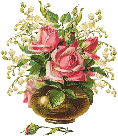 vintage u victorian cestas y jarrones de flores vintage