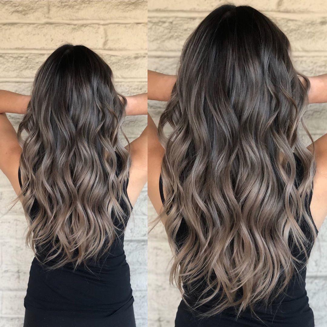 "Los Angeles Hairstylist/color on Instagram: ""2020 ☝️ hair transformation . . Dimensional brunette blonde melting  Ash Pearl 💎 . . Cut and color @andrewlovescolor  #ashbrunette…"""
