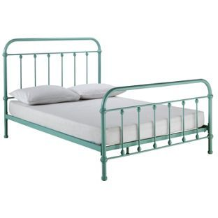 buy betsy vintage hospital double bed duck egg at argoscouk - Buy Bed Frame