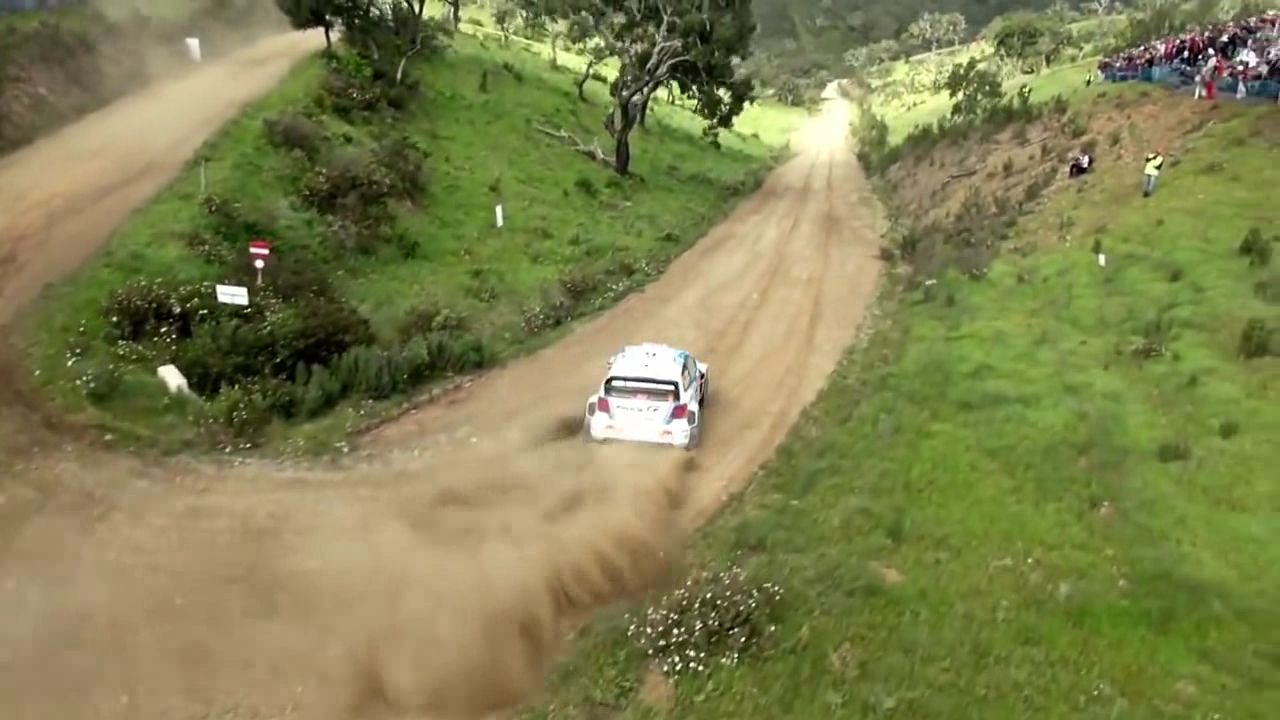 Motor Rally thrills and great images taken By Drone