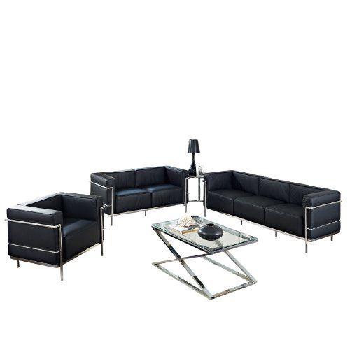 Lexmod Leather Le Corbusier Style Lc3 Armchair Loveseatm