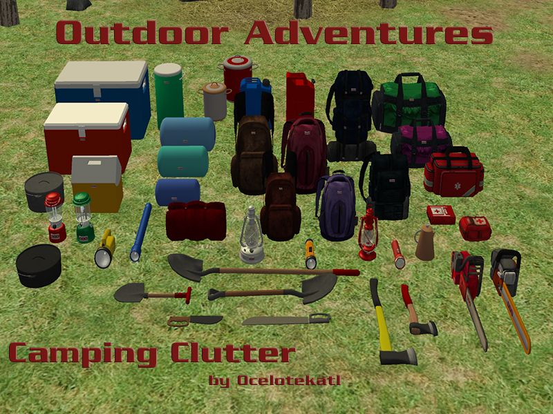 Blue Heaven Sims: Outdoor Adventures- Camping Clutter