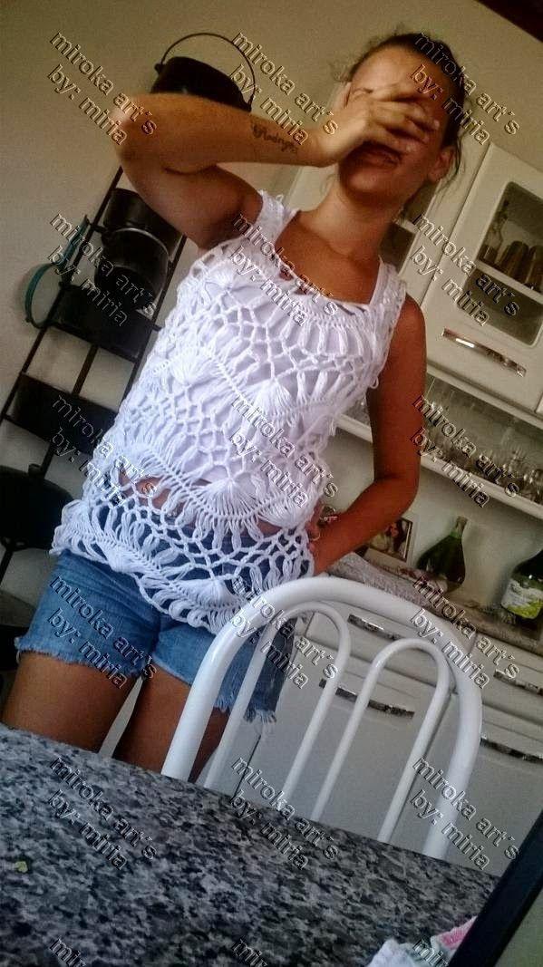 BLUSA EM CROCHE DE GRAMPO | ¸.•*¨) ¸.•☆ Miroka Artes ☆•.¸ (¨*•.¸ | Bloglovin'
