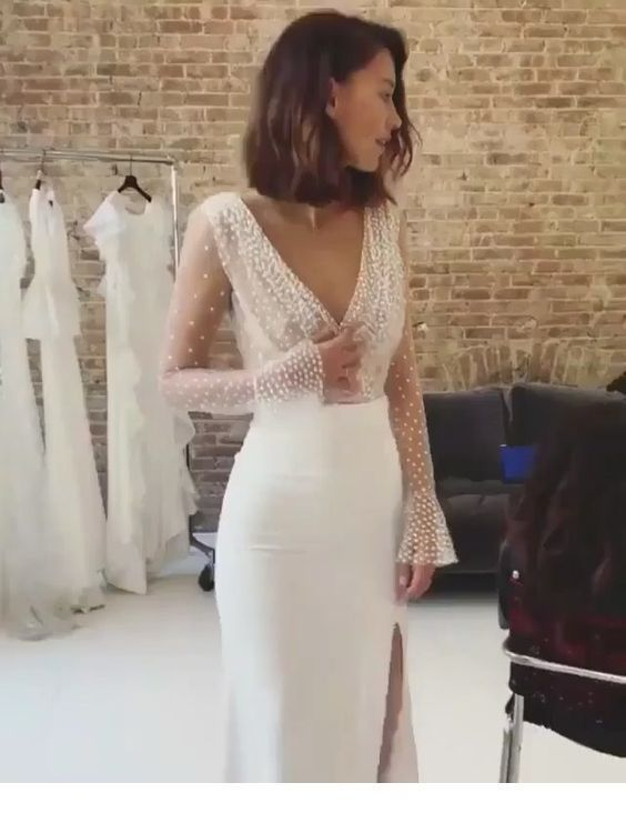 Glam jurk met parels voor bruiloft,  #Bruiloft #Glam #Jurk – General
