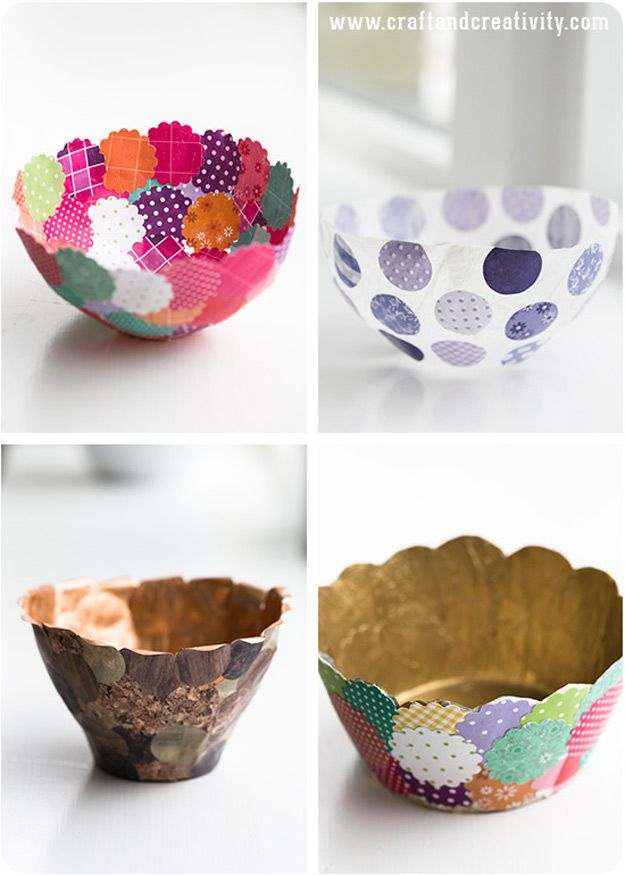47 Fun Pinterest Crafts That Arent Impossible Paper bowls Diy