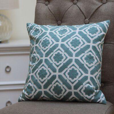 Charlton Home Kuhn Embroidery Cotton Throw Pillow