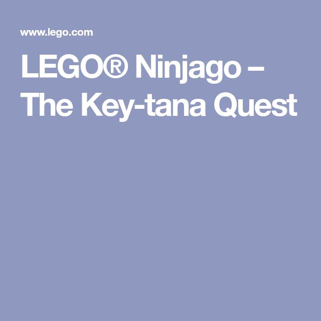 lego® ninjago  the keytana quest in 2020  tana ninjago
