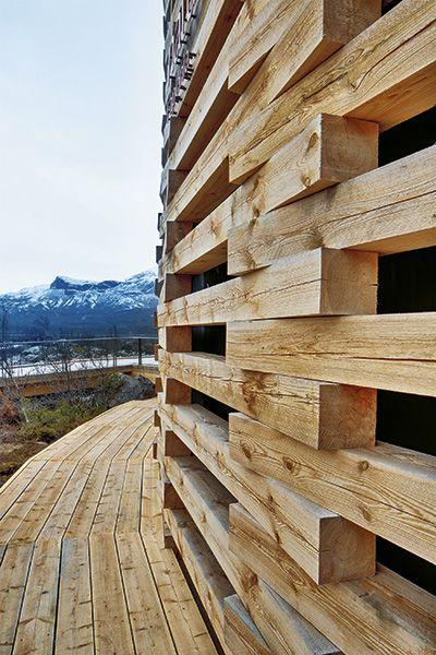 Naturum fångar snön av Wingårdhs, foto Jann Lipka – http://www.tidningentra.se/reportage/naturum-laponia-skapades-for #arkitektur i #trä