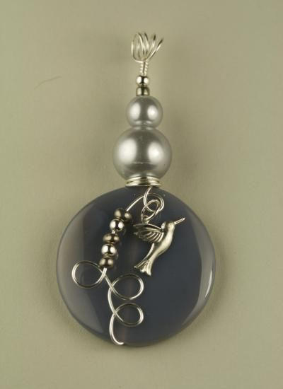 Botswana Gray Agate Gemstone Pendant  $15 at www.lunddesigns See our full line of beautiful jewelry, hand crafted,'fashion, and fine, on our web site. Like us on Facebook!