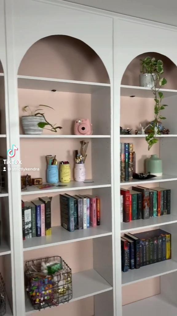 DIY Arched Bookshelves