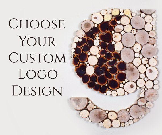 Benutzerdefinierte zurückgefordert Holz Logo Design Baum Stück ...