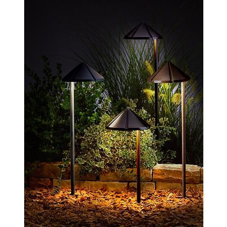 Kichler Bronze Finish Cone Low Voltage Landscape Light 53833 Lamps Plus Landscape Lighting Landscape Lighting Design Kichler Landscape Lighting