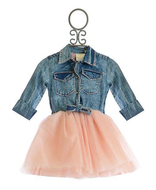 25a84dbf6c5 Ooh La La Couture Pink Tutu Denim Shirt Dress PREORDER  99.00 ...
