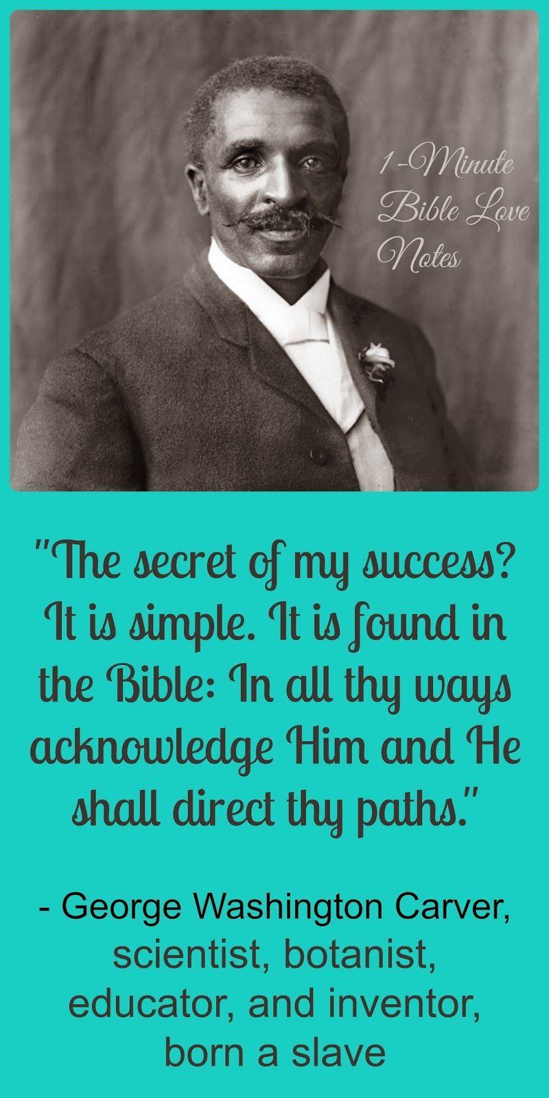 George Washington Carver - He Overcame Evil