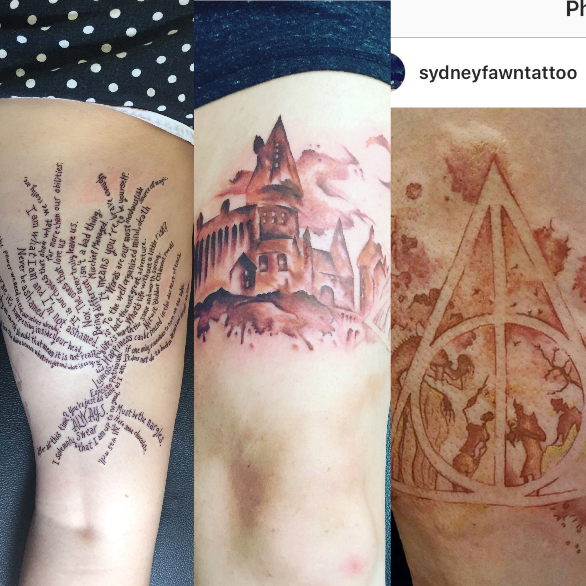 Harry Potter Tattoo Hogwarts Tattoo Whomping Willow Tattoo Harry Potter Quotes Watercolor Tattoo Redhead Tattoo Fair Hogwarts Tattoo Tattoos Tattoo Quotes