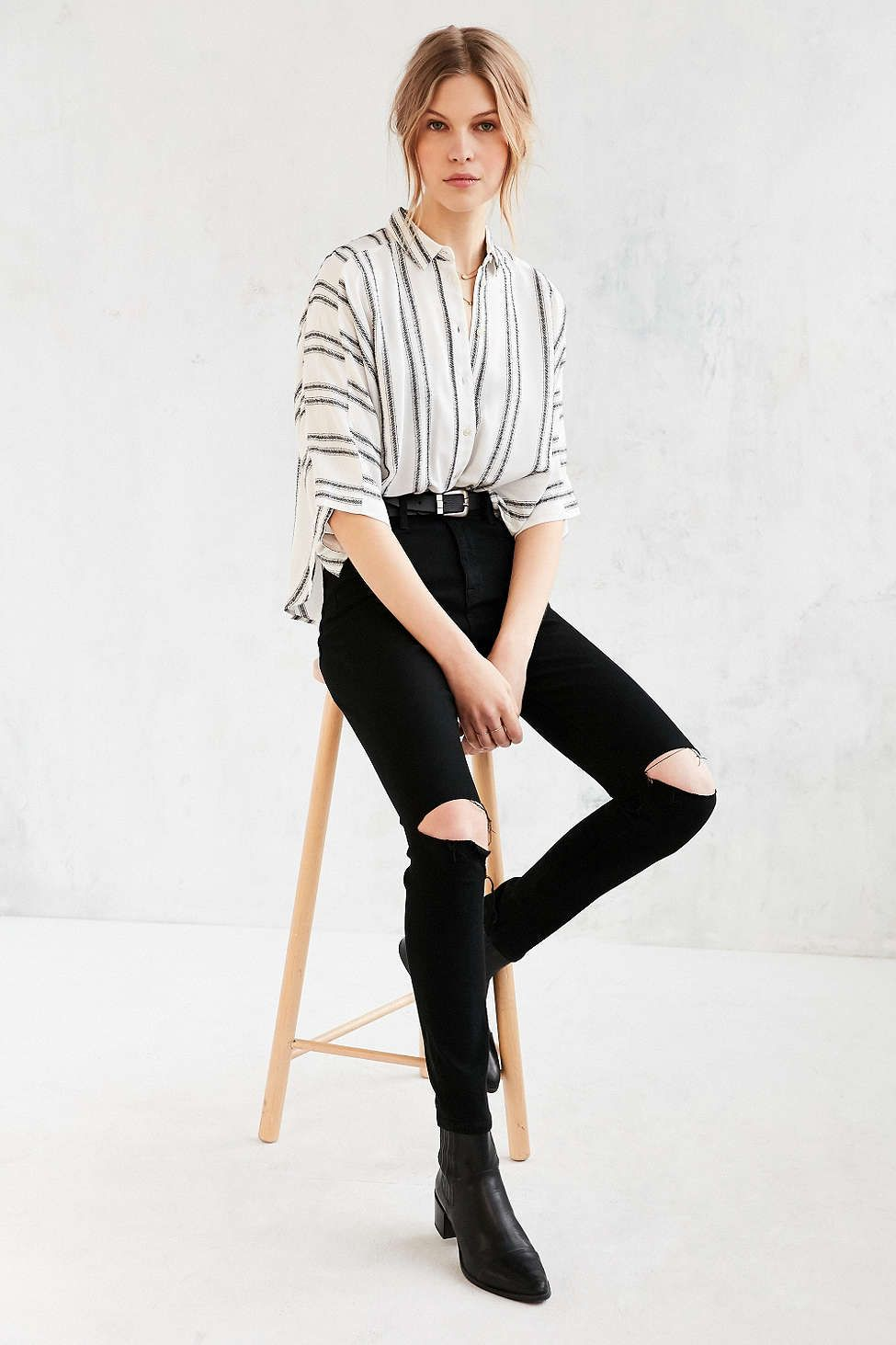 8f2f6b37cf6c Silence + Noise Bombero Striped Button-Down Shirt - Urban Outfitters ...