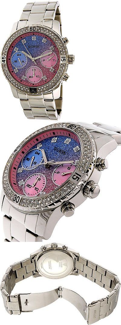 Wristwatches 31387: Guess Womens U0774l1 Silver Stainless-Steel Quartz Watch BUY IT NOW ONLY: $100.97