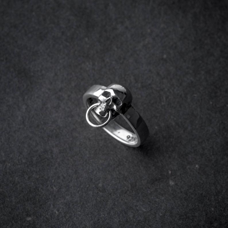 Skull Head Ring sterling silver skull handmade skull ring   Etsy