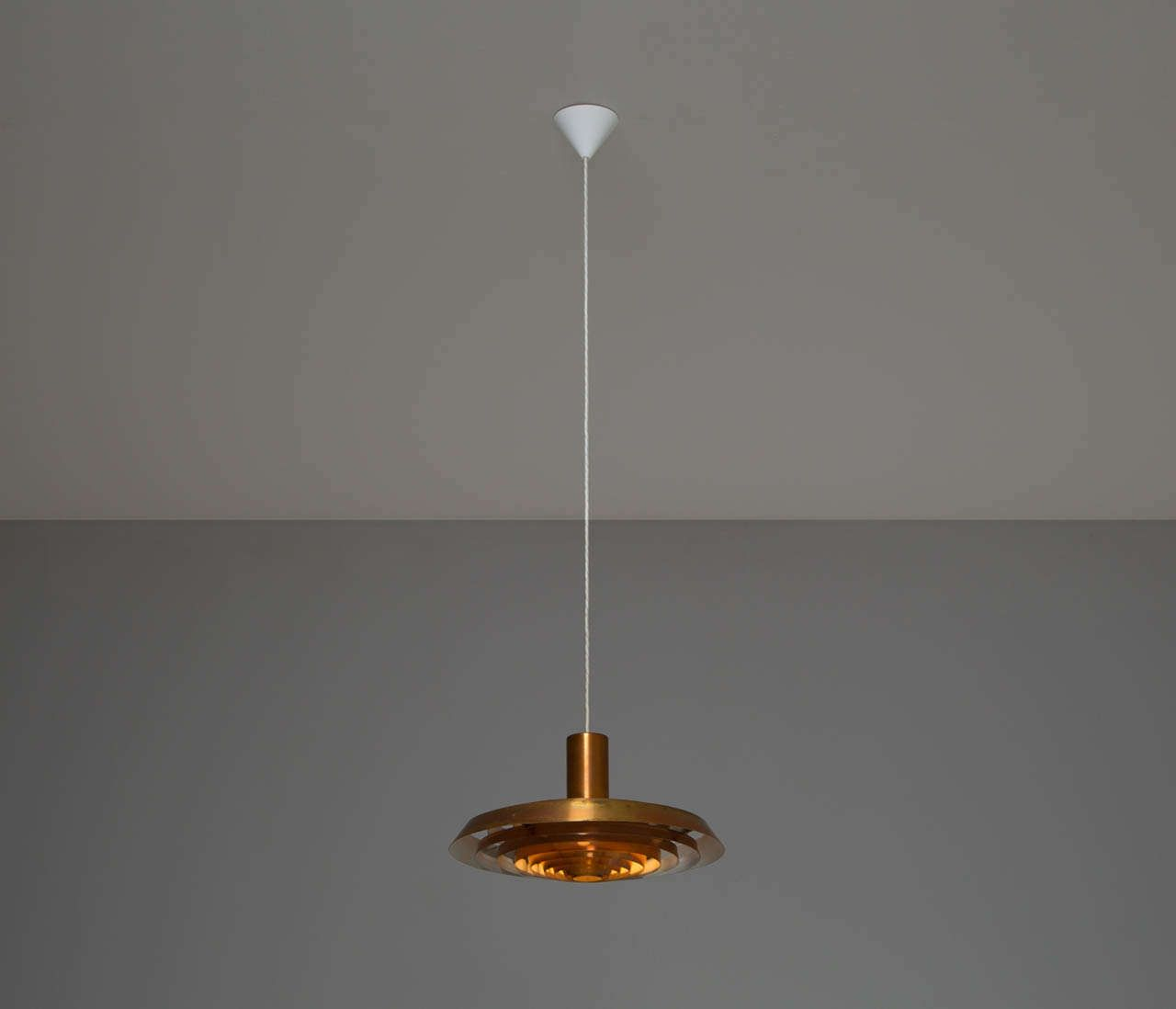 Poul Henningsen Copper 'Plate' Pendant for Louis Poulsen, 1960's For Sale at 1stdibs