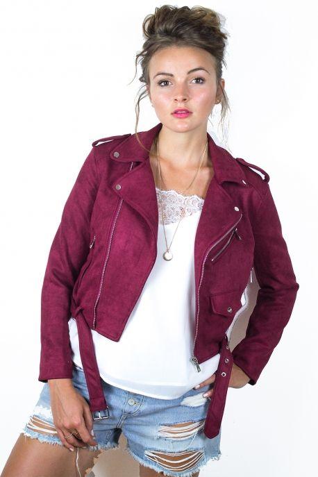 1c90e38ba62e3f veste effet daim femme,uniqlo veste biker effet daim femme 69 90 ...
