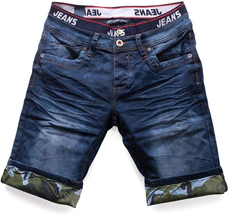 a2b45593d11d5 ArizonaShopping - Shorts pantalones cortos de mezclilla para hombres 3 4  Bermuda Capri pantalones H1513