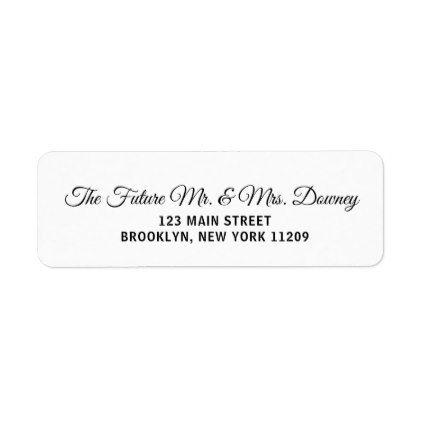 Custom Wedding Return Address Labels Return address, Wedding and