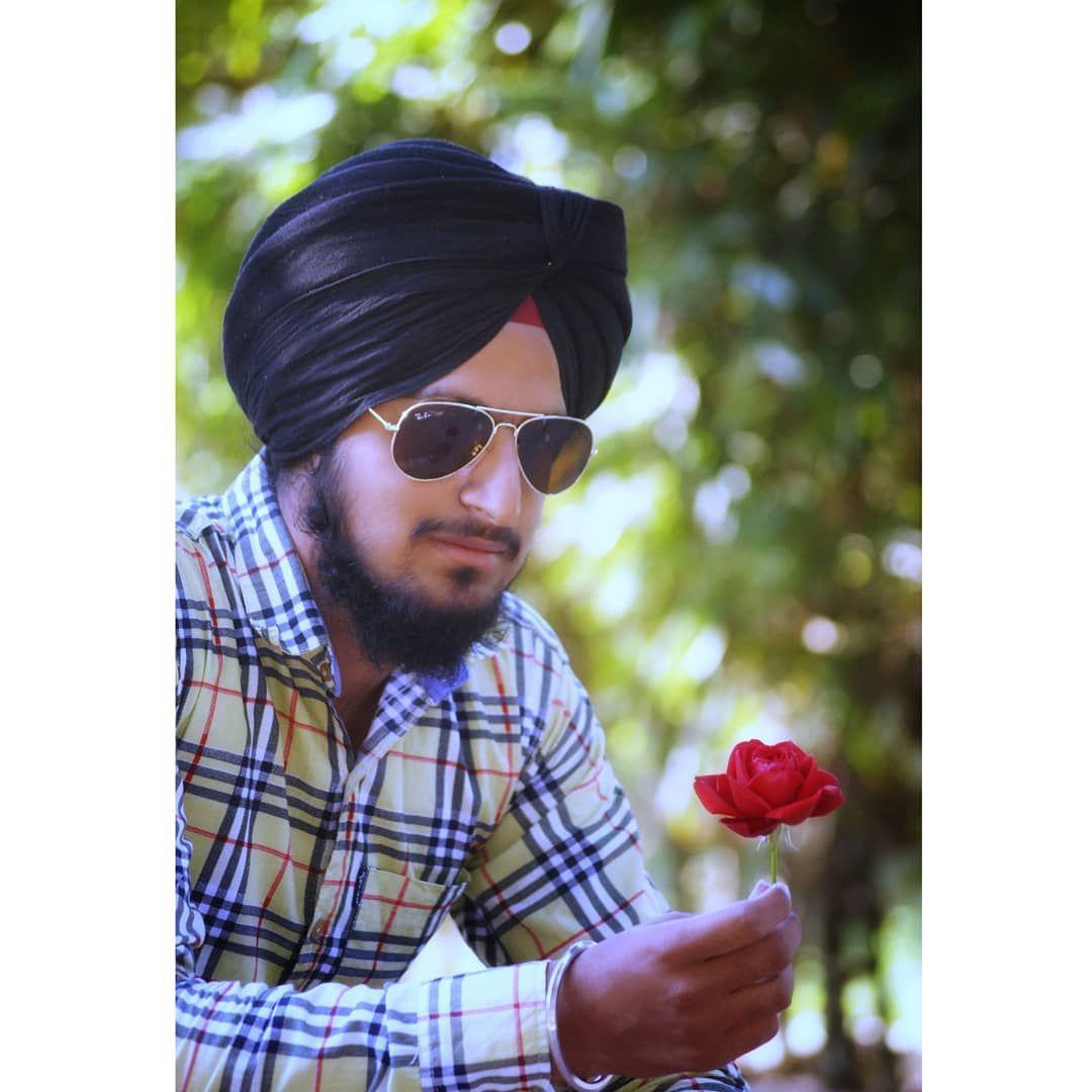 Jatt Jattlife Thuglife Batala Punjab Punjabi Velly Banda Black Turban Red Rose Jatt Jattlife Thuglife Batala Punja Thug Life Turban Black