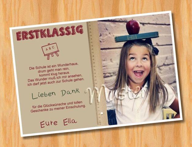 Danksagung zur Einschulung oder anderen Anlass 10 x Fotokarten als Einladung o