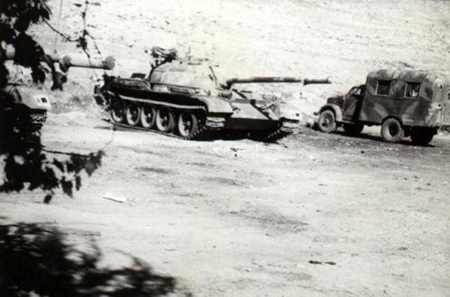 Syrian Appliances Abu Ali before the war, tanks T-54A and GAZ-63.